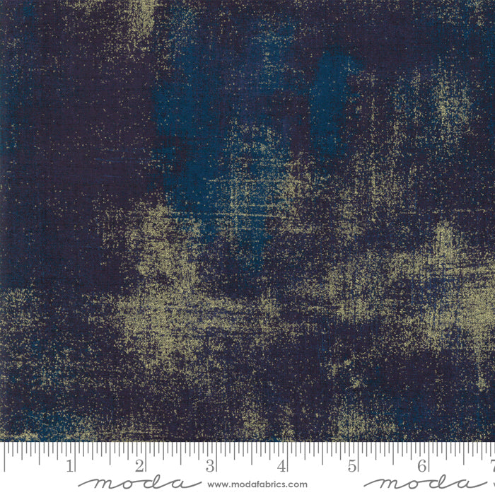 METALLIC GRUNGE Peacoat 30150 353M.Priced per 25cm.