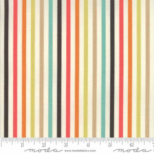 ESSENTIALLY YOURS Multi Black M 8652 13 Stripe.Priced per 25cm.