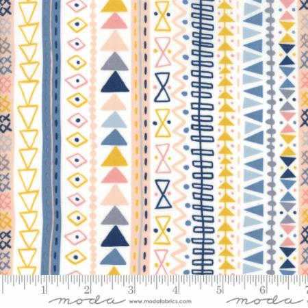 WILD & FREE 35314 11 Novelty Tribal Stripe Natural.Priced per 25cm.