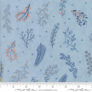 WILD & FREE Sky 35316 15 Wildflowers Light Blue.Priced per 25cm.
