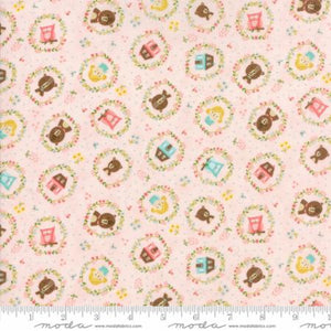 HOME SWEET HOME Goldies Story Pink  M 20572-11.Priced per 25cm.