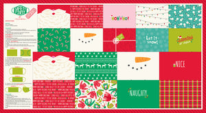 MODA FABRICS SAFETY FIRST FACE MASK HOLIDAY PANEL BY STACY IEST HSU - Arriving First week in November.