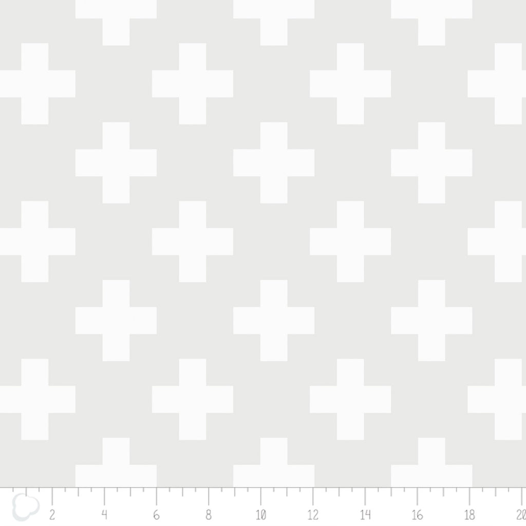 Camelot Fabrics - Opalescent 21435061 Swiss Cross White.Priced per 25cm