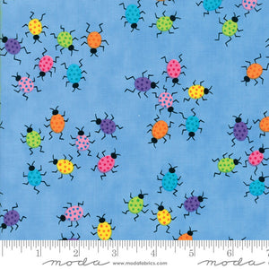 Moda Me & My Sister FROLIC  Floral Dancing Bugs Light Blue 22315 11