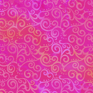 Quilting Treasures Ombre Scroll Wide Back fabric
