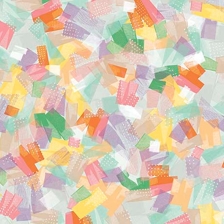CONFETTI BLOSSOMS BRUSHSTROKES 26236 -X  MULTI.Priced per 25cm