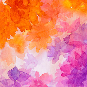 SOIREE By Studio 8 - WATERCOLOR FLORAL 26271 -X  Color : MULTI.Priced per 25cm.