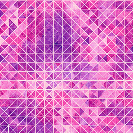 SOIREE By Studio 8 - DIAMOND GEOMETRIC  26274 -P  Color : PINK.Priced per 25cm.
