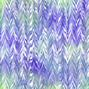 BELLE By Studio 8 - WATERCOLOR CHEVRON 26420 -VW  PURPLE/PERIWINKLE.Priced per 25cm.