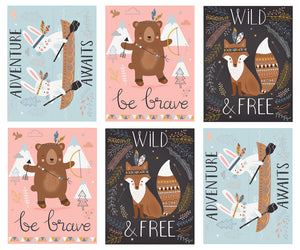 WILD & FREE Novelty Panel Multi 35310 11