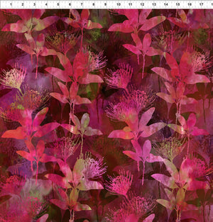 Australian Beauties by Jason Yenter 3 AUB-2, EUCALYPTUS Dark Pink.Priced per 25cm
