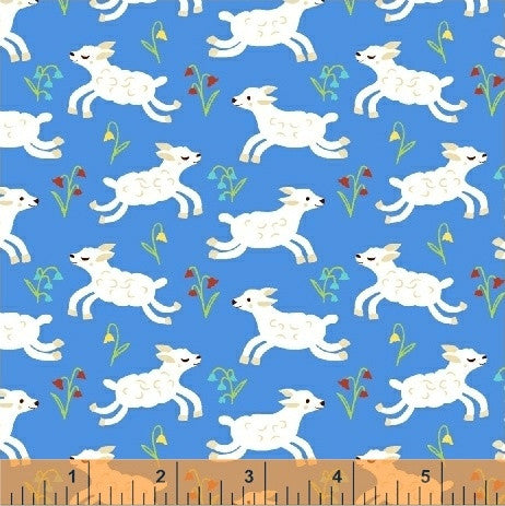 Windham - NURSERY RHYMES by Erica Hite 42588-3 blue.Priced per 25cm.