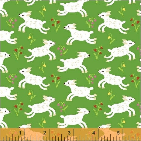 Windham - NURSERY RHYMES by Erica Hite 42588-5 Green.Priced per 25cm.