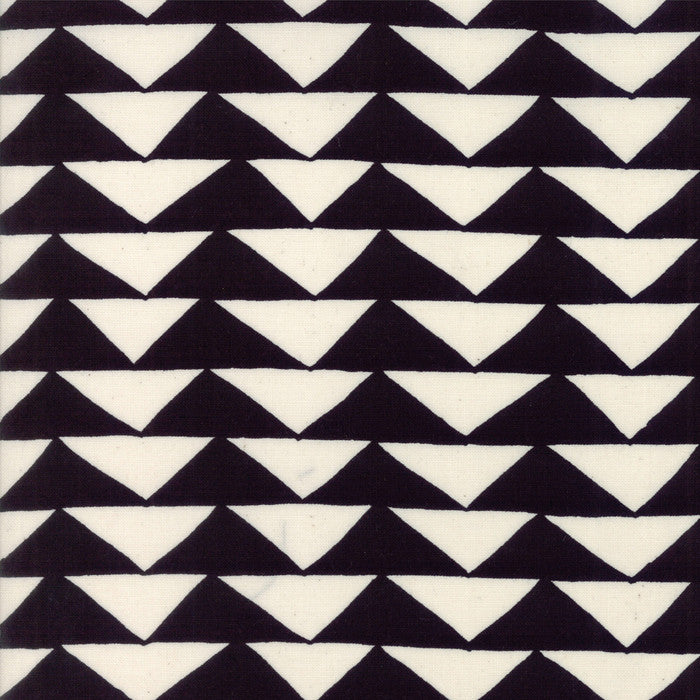 Moda THICKET Black on Natural Triangles Yardage  SKU# 48201-12