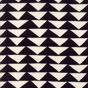 THICKET Black on Natural Triangles Yardage  SKU# 48201-12.Priced per 25cm.