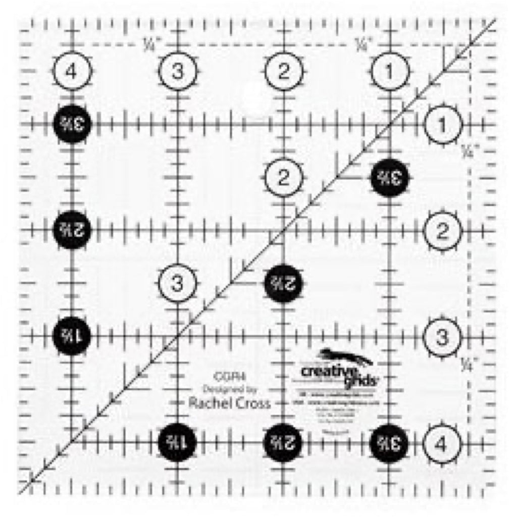 "Creative Grids SQUARE 4.5"" X 4.5"" Ruler CG R4"