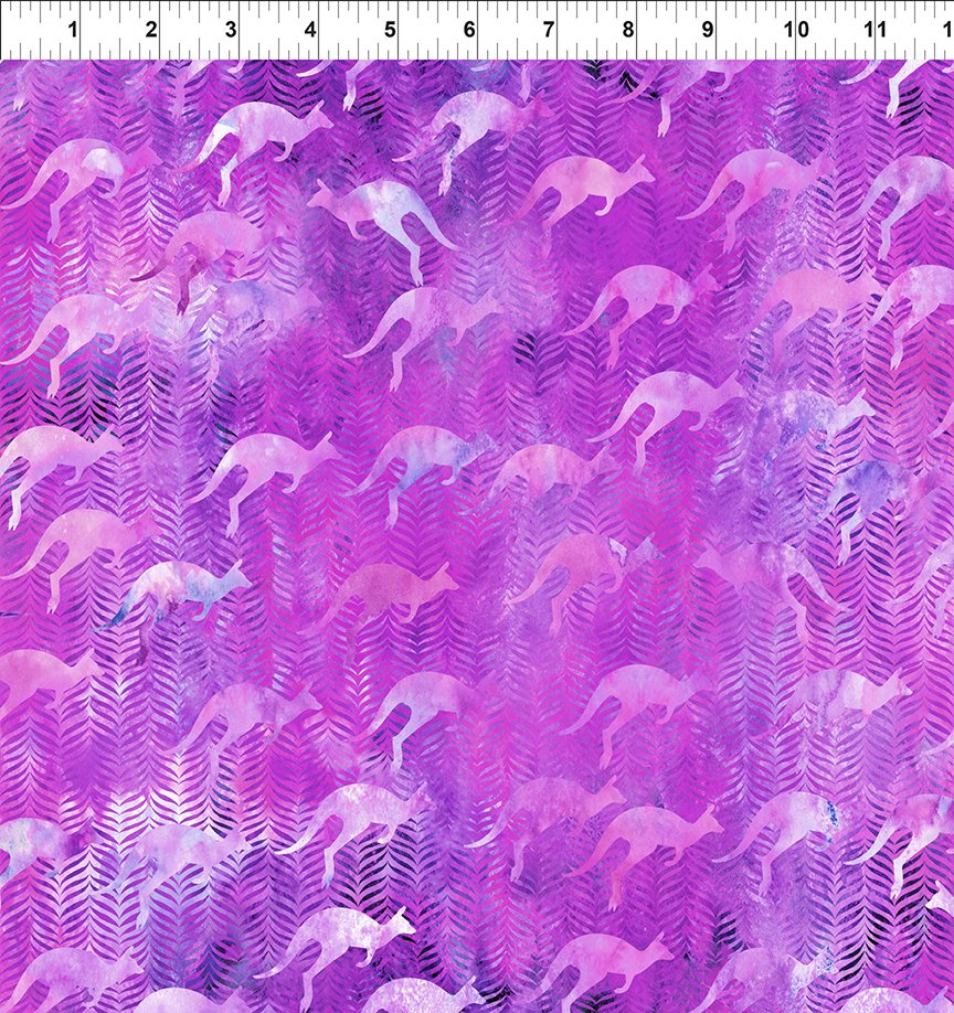 Australian Beauties by Jason Yenter 4 AUB-5, KANGAROO Purple.Priced per 25cm