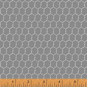 Windham - EARLY BIRD by Whistler Studios 51400-2 Chicken Wire Grey.Priced per 25cm.