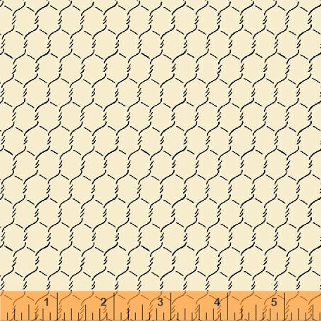 Windham - EARLY BIRD by Whistler Studios 51400-6 Chicken Wire Cream.Priced per 25cm.