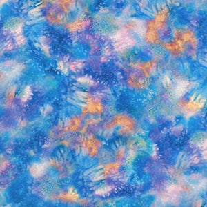 Robert Kaufman Morningmoon Fairies ABKD-17648-247 FAIRY DUST IN CORNFLOWER.Priced per 25cm.