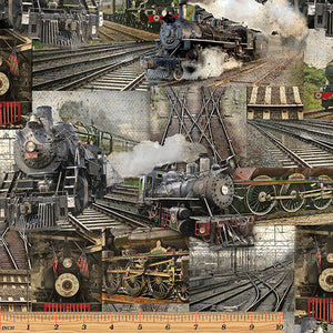 RAILWAY COLLAGE MULTI By KANVAS STUDIO: 8507-99