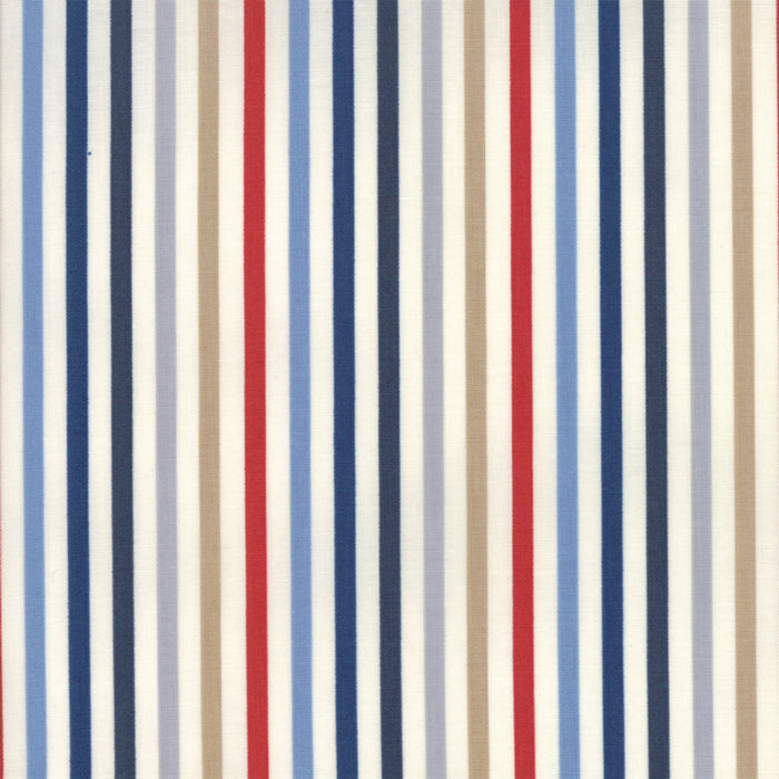 ESSENTIALLY YOURS Multi Blue M 8652 18 Stripe.Priced per 25cm.