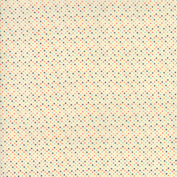 ESSENTIALLY YOURS White Multi B 8655 87 Mini Dot.Priced per 25cm.
