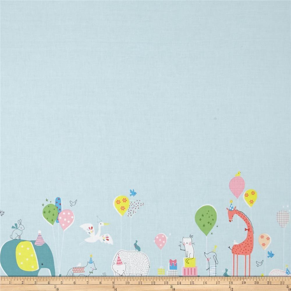 Blend Hip Hooray Double Border Blue - Birthday Party Parade
