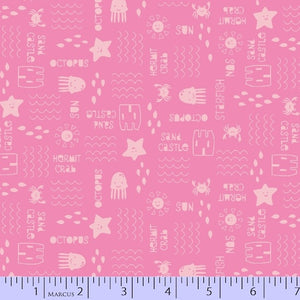 Marcus Fabric  Chasing Waves by Red Brolly - 9737-0124 - pink.Priced per 25cm