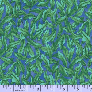Marcus Fabrics - The Rainbow Fish Blue Algae 9751-0115