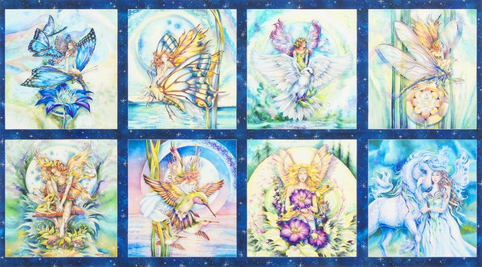 Robert Kaufman Morningmoon Fairies ABKD-17645-238 GARDEN