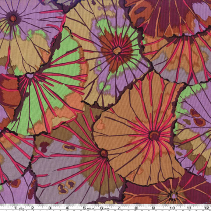 Kaffe Fassett Collective Lotus Leaf Umber PWGP029.Priced per 25cm