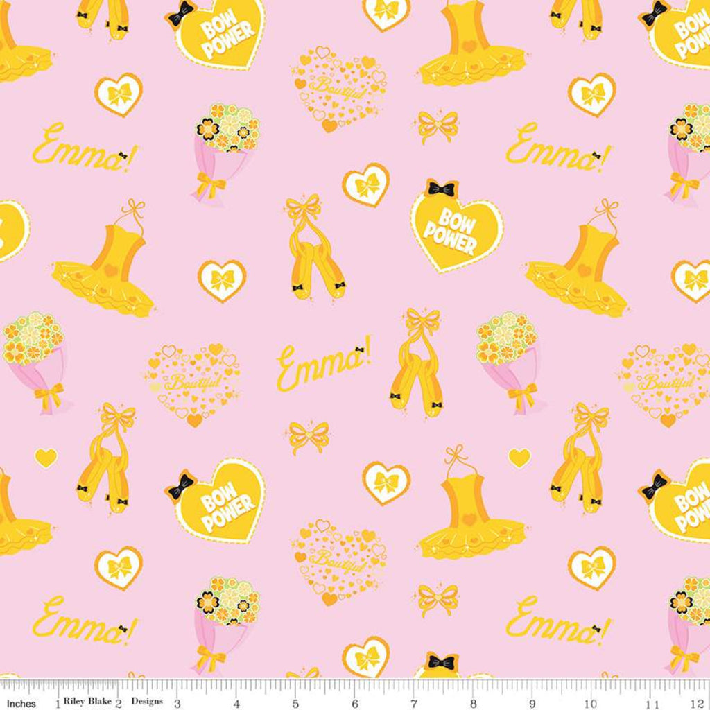Emma Icons Pink.Priced per 25cm - The Wiggles