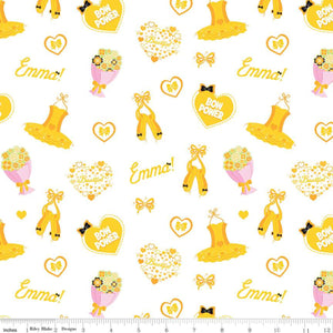Emma Icons White.Priced per 25cm - The Wiggles