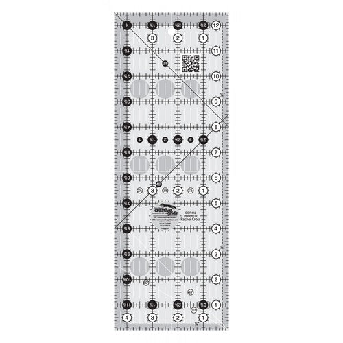 "Creative Grids RECTANGLE 4.5"" X 12.5"" Ruler CG R412"