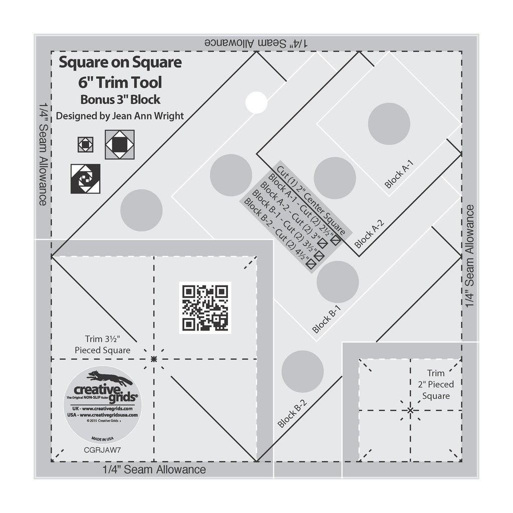 "Creative Grids Square on Square 6"" Trim Tool"