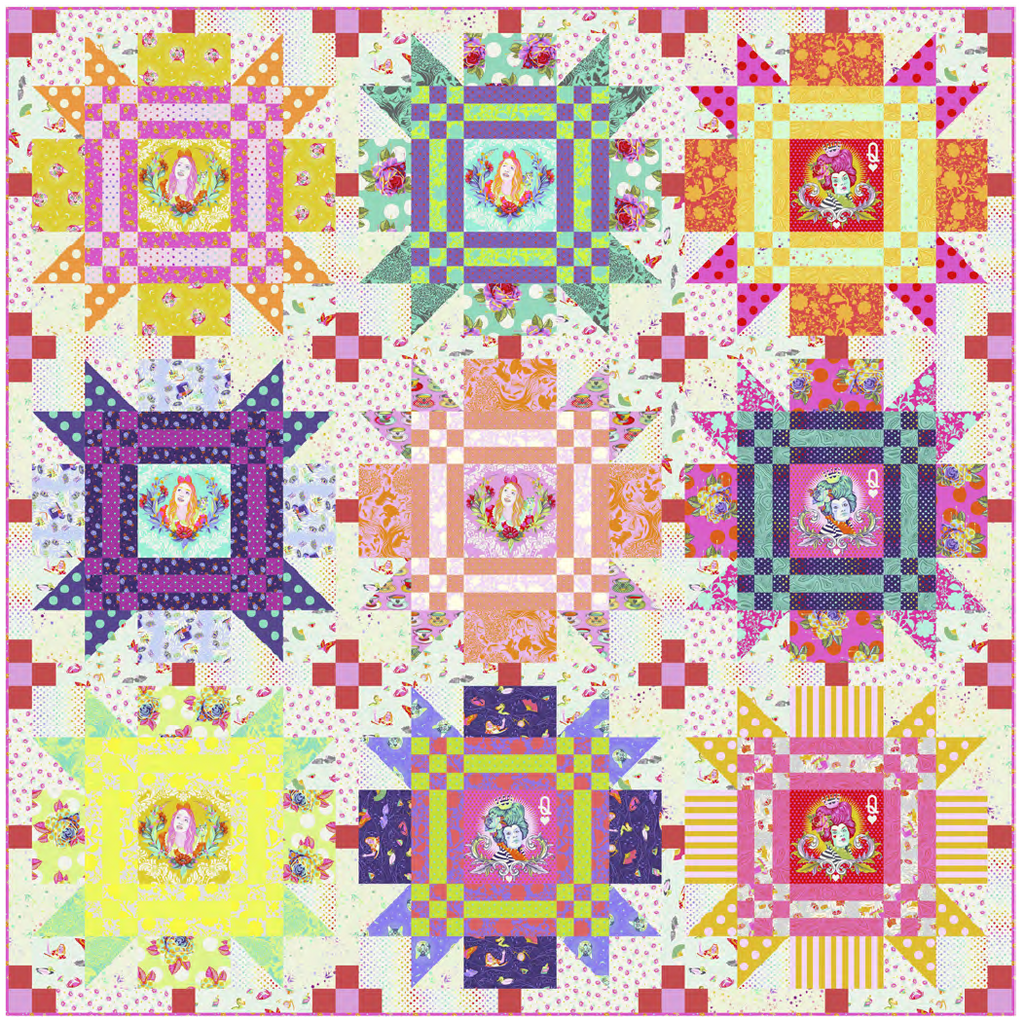 *PRE ORDER* Curiouser & Curiouser CHECKMATE Quilt Kit - DUE TO ARRIVE APRIL/MAY