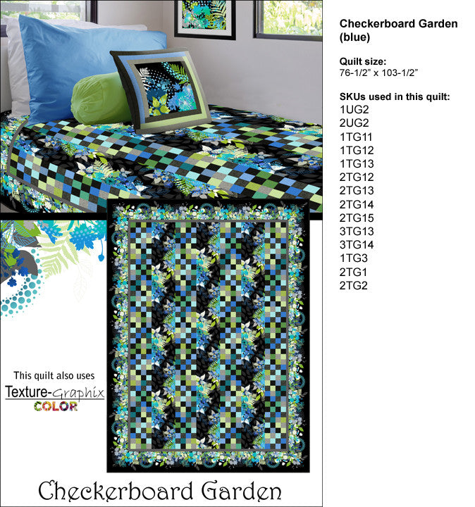 Checkerboard Garden Multi or Blue Kit by Jason Yenter