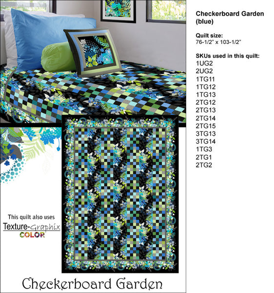 In the Beginning - Checkerboard Garden Multi or Blue Kit by Jason Yenter