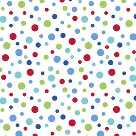 ALPINE FABRICS FLANNEL - F410-51 Bright Dots on White.Priced per 25cm