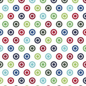 ALPINE FABRICS FLANNEL - Circle Dot Flannel Multi Boy - PATTERN F520-51 Mult