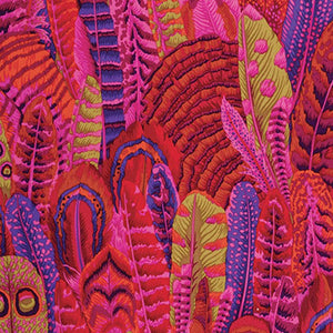 Kaffe Fassett Collective Feathers RED PWPJ055.Priced per 25cm