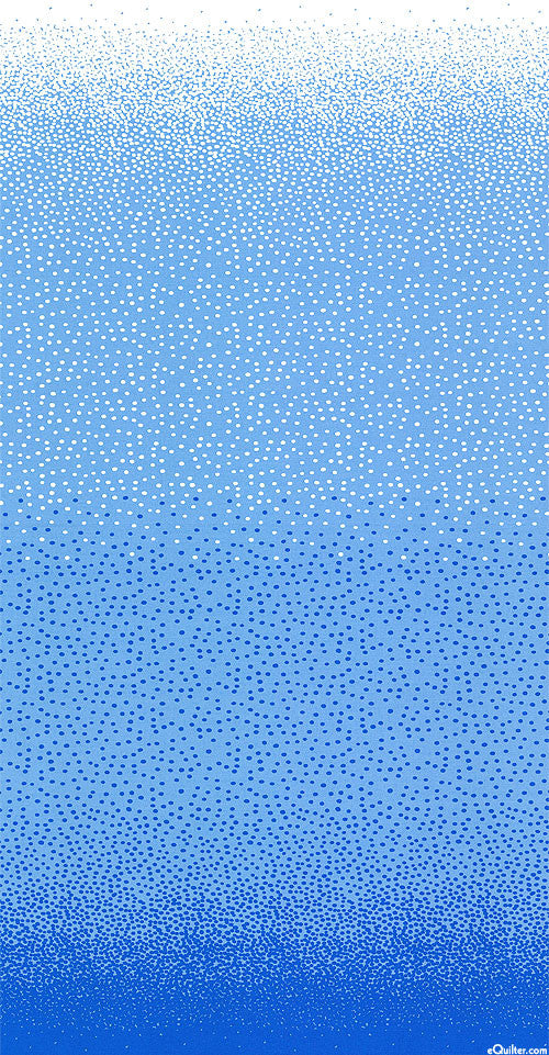 COOL BREEZE OVER THE TOP DOTS JANE SASSAMAN - Blue.Priced per 25cm