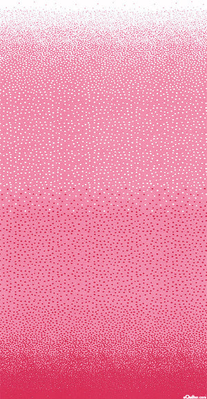 COOL BREEZE OVER THE TOP DOTS JANE SASSAMAN - PINK.Priced per 25cm