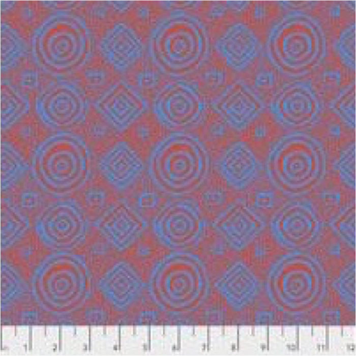 Kaffe Fassett Collective Good Vibrations Orange PWBM065.Priced per 25cm