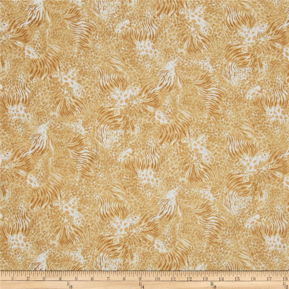 QT - Out of Africa Mixed Animal Skins Tan.Priced per 25cm.