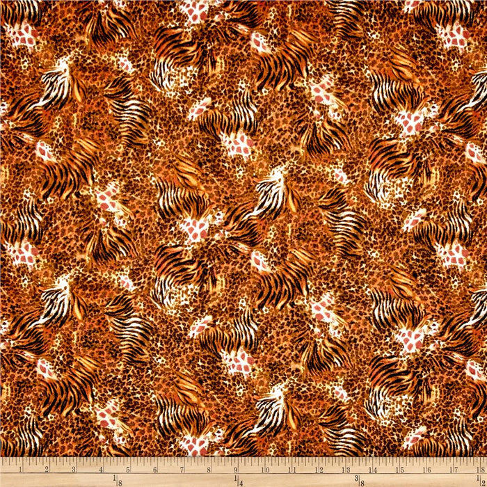 QT - Out of Africa Mixed Animal Skins Burnt Orange