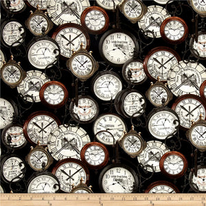 RAILWAY EXPRESS - Antique Clocks  By KANVAS STUDIO: 8507-99.Priced per 25cm.
