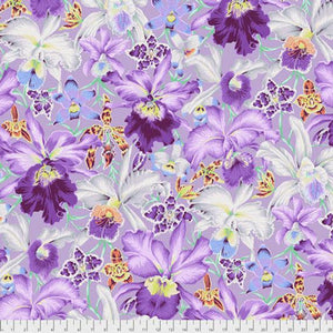 Kaffe Fassett Collective Orchids COOL PWPJ092.Priced per 25cm