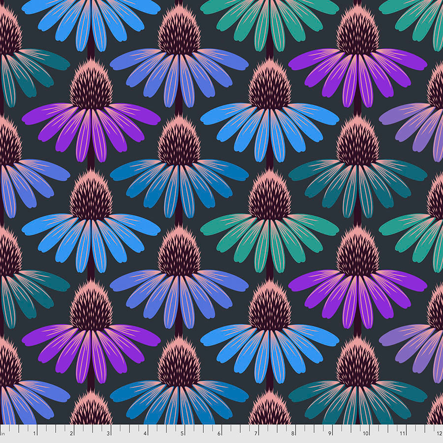 Hindsight - Echinacea Glow - Amethyst by Anna Maria Horner PWAH149.Priced per 25cm